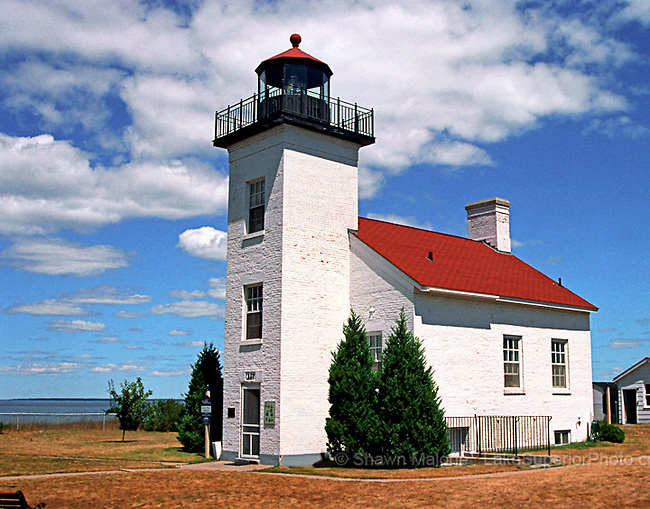 Sand Pt lighthouse lighthouses in the Upper Peninsula of Michigan