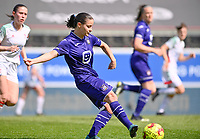 Stefania Vatafu (10) of Anderlecht pictured during a female soccer game between Oud Heverlee Leuven and RSC Anderlecht on the 2nd matchday of play off 1 in the 2020 - 2021 season of Belgian Womens Super League , saturday 17 th of April 2021  in Heverlee , Belgium . PHOTO SPORTPIX.BE | SPP | DAVID CATRY