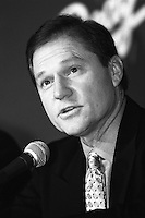 Baseball player agent Scott Boras during a press conference at Dodger Stadium during the 1998 season in Los Angeles, California. (Larry Goren/Four Seam Images)
