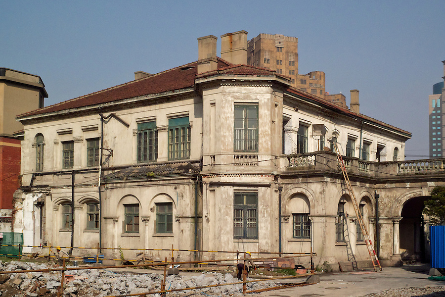 The Consul-General's Residence In Shanghai.  This Image Is From November 2008 When The Restoration Of The Compound Had Just Commenced.  Broadway Mansions May Be Just Seen To The Rear.