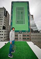 Rotterdam, The Netherlands, Februari 8, 2016,  ABNAMROWTT, Gael Monfils (FRA)<br /> Photo: Tennisimages/Henk Koster