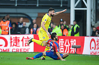 Olivier GIROUD of Chelsea look to have gained an ankle injury while shooting and scoring a goal which is disallowed during the Premier League match between Crystal Palace and Chelsea at Selhurst Park, London, England on 30 December 2018. Photo by Andrew Aleks.