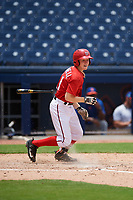 GCL Nationals center fielder Justin Connell (11) at bat during the second game of a doubleheader against the GCL Mets on July 22, 2017 at The Ballpark of the Palm Beaches in Palm Beach, Florida.  GCL Mets defeated the GCL Nationals 1-0.  (Mike Janes/Four Seam Images)