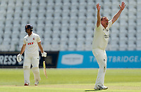 Luke Fletcher of Nottinghamshire appeals for the wicket of Ryan ten Doeschate during Nottinghamshire CCC vs Essex CCC, LV Insurance County Championship Group 1 Cricket at Trent Bridge on 6th May 2021