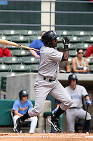 Wilmington Blue Rocks infielder Deivy Batista #11 at bat against the Myrtle Beach Pelicans at BB&T Coastal Field in Myrtle Beach, South Carolina on April 10, 2011.   Photo By Robert Gurganus/Four Seam Images