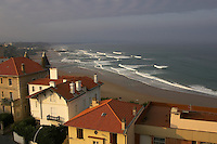 Biarritz, France..Cote Du Basque Beach ..October 2007..pic copyright Steve Behr / Stockfile