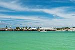 The port area of the capital London in Kiritimati, Kiribati