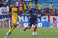 SANTA MARTA- COLOMBIA, 03-08-2019: Acción de juego entre los equipos  Unión Magdalena y el Independiente Medellín durante partido por fecha 4 de la Liga Águila II 2019 jugado en el estadio Sierra Nevada de la ciudad de Santa Marta. / Action game between Union Magdalena agaisnt of Independente Medellin during match for the date 4 as part of the  Aguila League  II 2019 played at the Sierra Nevada Stadium in Santa Marta  city. Photo: VizzorImage / Gustavo Pacheco / Contribuidor