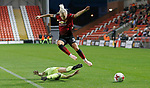 Alex Greenwood of Manchester United Women leaps over Jade Pennock of Sheffield Utd Women