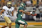 Baylor Bears running back Shock Linwood (32) in action during the game between the Wofford Terriers and the Baylor Bears at the Floyd Casey Stadium in Waco, Texas. Baylor defeats Woffard 69 to 3.