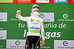Andrea Bagioli (ITA) Deceuninck-Quick-Step retains the young riders White Jersey at the end of Stage 2 of La Vuelta d'Espana 2021, running 166.7km from Caleruega. VIII Centenario de Santo Domingo de Guzmán to Burgos. Gamonal, Spain. 15th August 2021.    <br /> Picture: Luis Angel Gomez/Photogomezsport   Cyclefile<br /> <br /> All photos usage must carry mandatory copyright credit (© Cyclefile   Luis Angel Gomez/Photogomezsport)