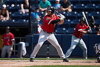 Daniel Palka (23) of the Rochester Red Wings at bat against the Scranton/Wilkes-Barre RailRiders at PNC Field on July 25, 2021 in Moosic, Pennsylvania. (Brian Westerholt/Four Seam Images)