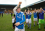 St Johnstone v Motherwell.....19.05.13      SPL.Murray Davidson celebrates at full time.Picture by Graeme Hart..Copyright Perthshire Picture Agency.Tel: 01738 623350  Mobile: 07990 594431