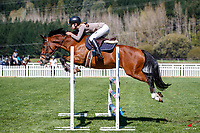 NZL-Monica McConnell rides Tazen The Wob. Class 26: Pony 1.05m Ranking Class. 2021 NZL-Easter Jumping Festival presented by McIntosh Global Equestrian and Equestrian Entries. NEC Taupo. Saturday 3 April. Copyright Photo: Libby Law Photography