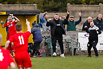 Lewis Weaver of Heanor Town scores the only goal of the game in the 80th minute. Hucknall Town v Heanor Town, 17th October 2020, at the Watnall Road Ground, East Midlands Counties League. Photo by Paul Thompson.