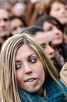 """""""Se non le donne chi? Se non ora quando?"""": manifestazione per il rispetto della dignita' e dei diritti delle donne, a Roma, 11 dicembre 2011..Women attend the """"If not women who? If not now, when?"""" rally to ask for respect of their dignity and rights, in Rome, 11 december 2011..UPDATE IMAGES PRESS/Riccardo De Luca"""