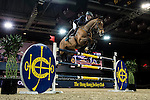 Julien Epaillard of France riding Cristallo A LM in action during the Hong Kong Jockey Club Trophy competition as part of the Longines Hong Kong Masters on 13 February 2015, at the Asia World Expo, outskirts Hong Kong, China. Photo by Victor Fraile / Power Sport Images
