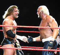 Triple H  Hulk Hogan 2002                                                                            By John Barrett/PHOTOlink