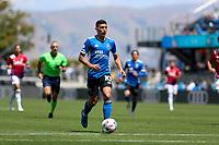 SAN JOSE, CA - APRIL 24: Cristian Espinoza #10 of the San Jose Earthquakes moves towards the goal during a game between FC Dallas and San Jose Earthquakes at PayPal Stadium on April 24, 2021 in San Jose, California.