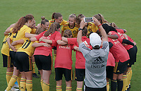 20200820 - TUBIZE , Belgium : Red Flames U17 pictured before a friendly match between Belgian national women's youth soccer team called the Red Flames U17 and Union Saint-Ghislain Tetre , on the 20th of August 2020 in Tubize.  PHOTO: Sportpix.be | SEVIL OKTEM