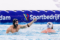 19-02-2021: Waterpolo: Greece v France: Rotterdam<br /> <br /> ROTTERDAM, NETHERLANDS - FEBRUARY 19: Ugo Crousillat of France during the Olympic Waterpolo Qualification Tournament 2021 match between Greece and France at Zwemcentrum Rotterdam on February 19, 2021 in Rotterdam, Netherlands (Photo by Marcel ter Bals/Orange Pictures)