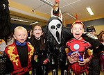 Children from Ennis NS enjoying the annual  Clare Champion Halloween Party with staff member Liam Duggan. Photograph by John Kelly.