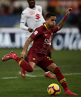 Football, Serie A: AS Roma - Torino, Olympic stadium, Rome, January 19, 2019. <br /> Roma's Justin Kluivert in action during the Italian Serie A football match between AS Roma and Torino at Olympic stadium in Rome, on January 19, 2019.<br /> UPDATE IMAGES PRESS/Isabella Bonotto