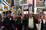 Pro Venezuelan goverment demostrators attend a rally in Times Square New York