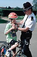 Police with schoolchildren