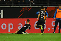 celebrate the goal, Torjubel zum 1:0 von Luka Jovic (Eintracht Frankfurt) - 11.11.2018: Eintracht Frankfurt vs. FC Schalke 04, Commerzbank Arena, DISCLAIMER: DFL regulations prohibit any use of photographs as image sequences and/or quasi-video.