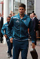 Federico Fernandez of Swansea City arrives prior to the game during the Premier League match between Southampton and Swansea City at the St Mary's Stadium, Southampton, England, UK. Saturday 12 August 2017