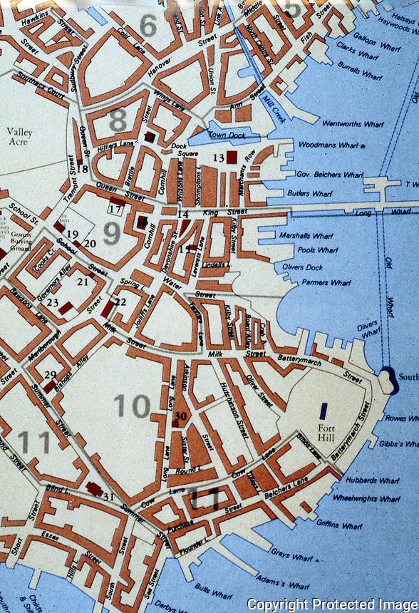 Utopia:  Boston Harbor, detail, 1770.