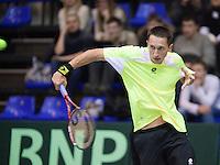 04-03-11, Tennis, Oekraine, Kharkov, Daviscup, Oekraine - Netherlands,   Sergiy Stakhovsky