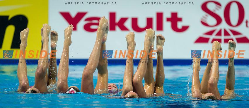 CAN - Canada<br /> BRISSON Gabriella FRAPPIER Annabelle<br /> HOLZNER Claudia MORIN Marie-Lou<br /> NEALON Samantha SANDERS Lisa<br /> SIMONEAU Jacqueline THOMAS Karine<br /> Team Free Final<br /> Day8 10/07/2015<br /> XVI FINA World Championships Aquatics<br /> Synchro<br /> Kazan Tatarstan RUS July 24 - Aug. 9 2015 <br /> Photo Pasquale Mesiano/Deepbluemedia/Insidefoto