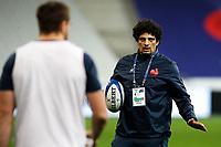 31st October 2020; Stade de France, Paris, France; Six Nations Rugby International, France versus Ireland;  Karim Ghezal ( entraineur adjoint France ) during pre-game warm-up