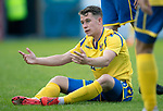 Greenock Morton v St Johnstone….09.07.19      Cappielow        Pre-Season Friendly<br />A frustrated Kyle McClean after being repeatedly fouled<br />Picture by Graeme Hart. <br />Copyright Perthshire Picture Agency<br />Tel: 01738 623350  Mobile: 07990 594431