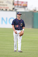Austin Elkins #20 of the Lancaster JetHawks during a game against the Lake Elsinore Storm at The Hanger on August 2, 2014 in Lancaster, California. Lake Elsinore defeated Lancaster, 5-1. (Larry Goren/Four Seam Images)