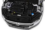 Car Stock 2018 Volkswagen Arteon Elegance 5 Door Hatchback Engine  high angle detail view