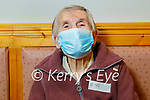 Mary Fitzmaurice from Listowel receiving her vaccine at the Convent Street Clinic in Listowel on Thursday.