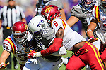 TCU Horned Frogs running back Kyle Hicks (21) in action during the game between Iowa State Cyclones and the TCU Horned Frogs at the Amon G. Carter Stadium in Fort Worth, Texas.