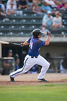 Missoula Osprey third baseman Buddy Kennedy (24) follows through on his swing during a Pioneer League game against the Orem Owlz at Ogren Park Allegiance Field on August 19, 2018 in Missoula, Montana. The Missoula Osprey defeated the Orem Owlz by a score of 8-0. (Zachary Lucy/Four Seam Images)