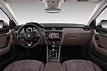 Stock photo of straight dashboard view of a 2017 Skoda Octavia Combi Scout 5 Door Wagon