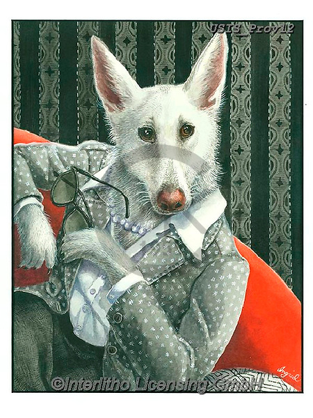 Ingrid, REALISTIC ANIMALS, REALISTISCHE TIERE, ANIMALES REALISTICOS,wolf, paintings+++++,USISPROV12,#a#, EVERYDAY