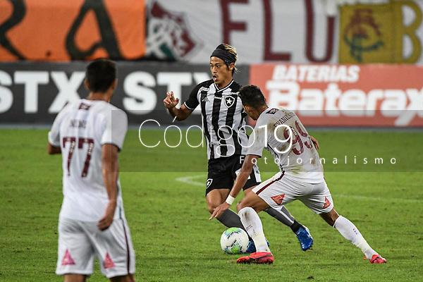 Rio de Janeiro (RJ), 01/08/2020 - Botafogo-Fluminense - Keisuke Honda. Partida amistosa entre Botafogo e Fluminense, realizada no Estádio Nilton Santos (Engenhão), na zona norte do Rio de Janeiro,  neste sábado (01).