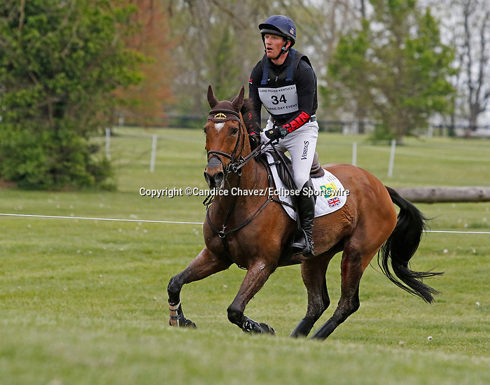 April 24, 2021: #34 Cooley Master Class and rider Oliver Townend in the Cross Country test at the Land Rover Three Day Event at the Kentucky Horse Park in Lexington, KY on April 24, 2021.  Candice Chavez/ESW/CSM