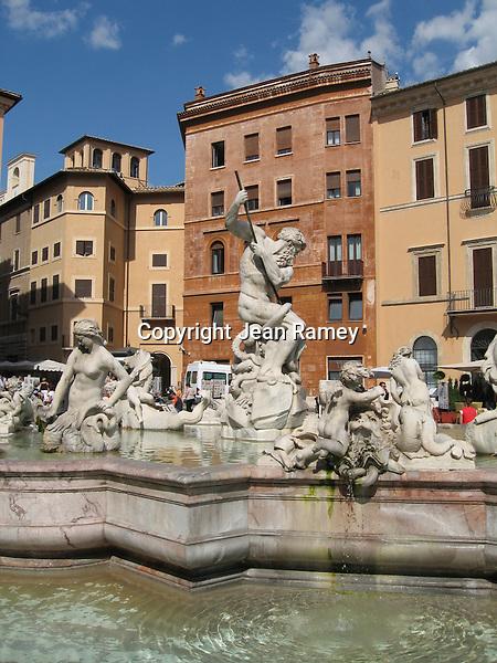 Neptune's Fountain, Piazza Navonna