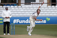 Ben Allison in bowling action for Essex during Essex CCC vs Worcestershire CCC, LV Insurance County Championship Group 1 Cricket at The Cloudfm County Ground on 11th April 2021