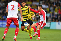Troy Deeney of Watford FC James Daly of Stevenage FC during Stevenage vs Watford, Friendly Match Football at the Lamex Stadium on 27th July 2021