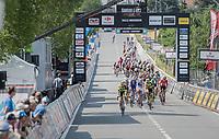 finish line passage<br /> <br /> 70th Halle Ingooigem 2017 (1.1)<br /> 1 Day Race: Halle > Ingooigem (201km)