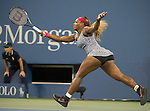 Serena Williams (USA) defeats Flavia Pannetta (ITA) 6-3, 6-2  at the US Open being played at USTA Billie Jean King National Tennis Center in Flushing, NY on September 3, 2014